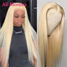 Blonde Bob Wig Lace-Wig Human-Hair-Wigs T-Part Straight 613 Brazilian 4x4 Swiss Long-13x1