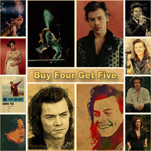 Posters Picture Paintings Hotel-Decoration Room-Bar Wall-Art Portrait Harry-Style Prints