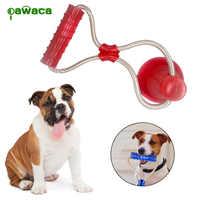 Perro masticar cuerda de juguete multifunción perro Molar palo de juguete con ventosa para la limpieza de los dientes, entrenamiento, juguetes de mordida Molar para mascotas
