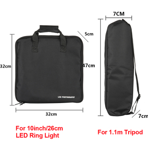 "Image 5 - 13inch Carry Bag LED Photography Bag Kits Outdoor Camera Stand Carry Bag for 8""10""Selfie Ring Light & Tripod Stand Storage Bag"