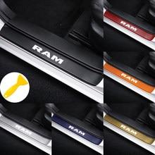 4 pçs carro placa de chinelo porta limiar do peitoril adesivos para dodge challenger ram 1500 carregador vingador calibre dart nitro estilo do carro