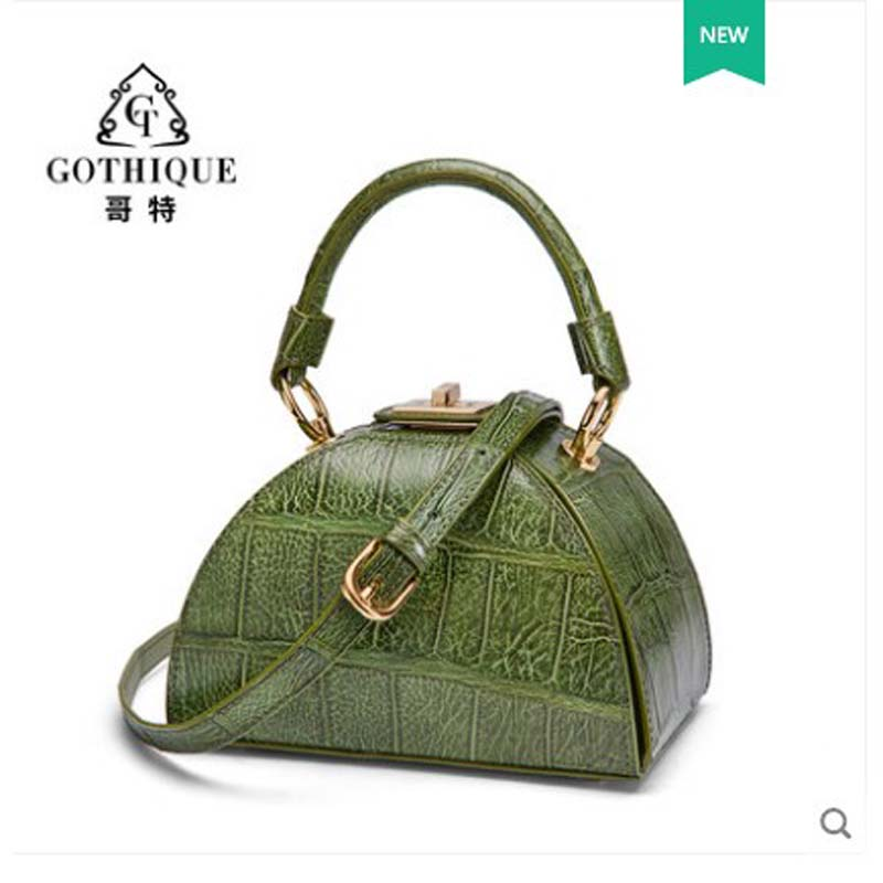 gete 2019  The new  crocodile Alligator skin bag for lady  Fashionable and versatile bag with simple leather  Lady shoulder bag