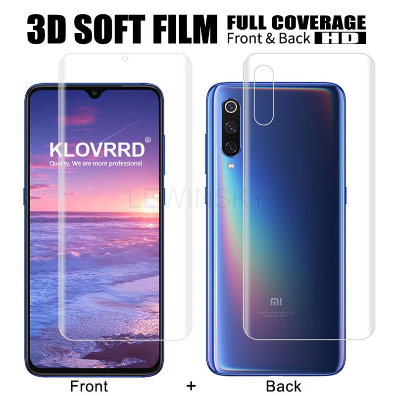 Full Cover screen Protector For Xiaomi Redmi Note 5 Pro 7 Mi 8 9 SE MAX 3 Pro MIX 3 2 <font><b>PocoPhone</b></font> <font><b>F1</b></font> A1 Protective Back Soft Film image