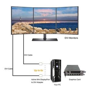 Image 5 - Adaptateur Mini DP DisplayPort vers DVI, câble actif vers femelle, convertisseur Thunderbolt pour MacBook Pro, AiMini TV, ordinateur portable, projecteur