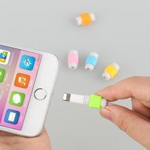 1Pc Mini kabel USB Protector słuchawka przewód ochronny osłona danych ładowarka linia ochronna dla Apple Iphone Samsung tanie tanio centechia CN (pochodzenie) Z tworzywa sztucznego none app 3 5*1cm USB Cable Protector Sleeve rubber+plastic Support