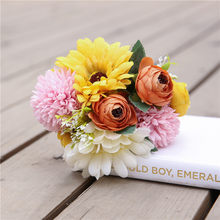 High Gerbera Hydrangea Bunch Artificial Flower Fake Hydrangea Artificial Flower Decoration Home Wedding Table LG66(China)