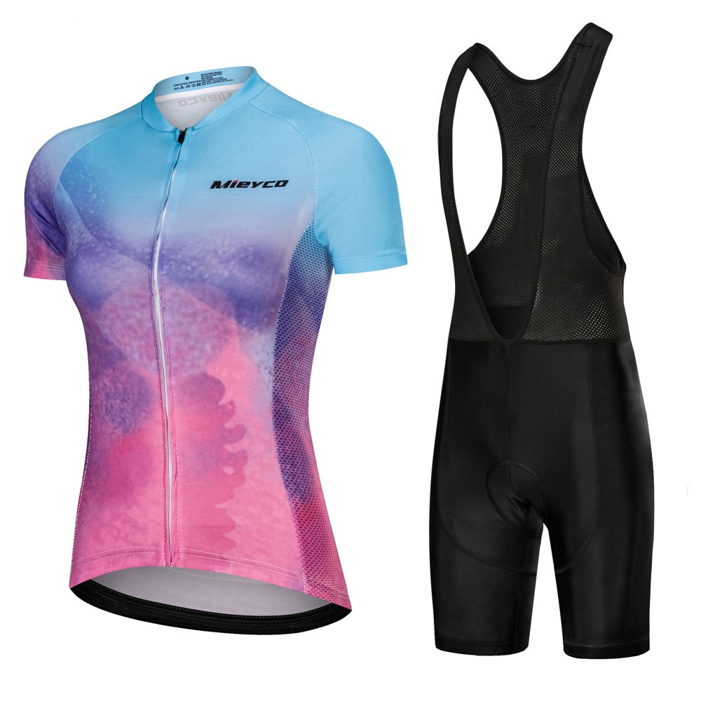 2020 Pink Cycling Clothes Set Short Sleeve Jersey And Bib Shorts Kit Summer Women Bike Clothing MTB Ropa Ciclismo Mailot Hombre