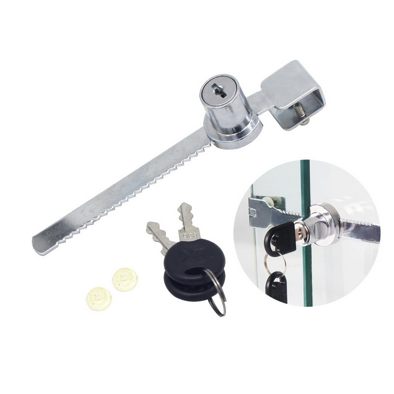 Cabinet Sliding Glass Door Lock Key Locksmith Supplies Window lock mobile phone display counter lock Sliding glass cabinet lock