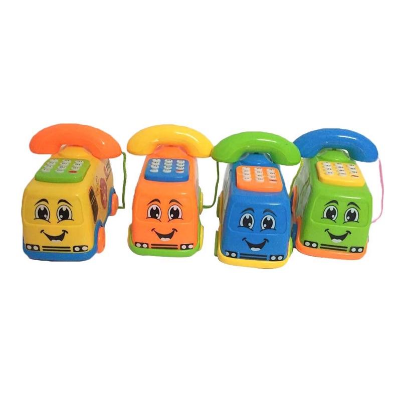 2020 New Baby Toys Music Cartoon Bus Phone Educational Developmental Kids Toy Gift New Christmas Gifts Random Colors