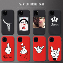 Newest Soft Silicone Cover Case For iPhone 6 6s 7 8 Plus X XR XS Max Soft Phone Case For iPhone XS 11Pro Case Cute Design(China)