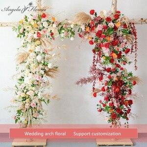 Image 1 - Пользовательские свадебные арки Декор цветочный композиция стол цветочный шар центральные Цветочные Вечерние сцены на открытом воздухе компоновка цветка стены