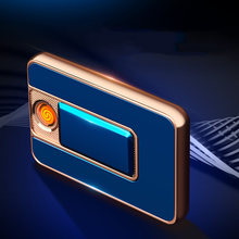 Ультратонкая выдвижная зарядная зажигалка из цинкового сплава