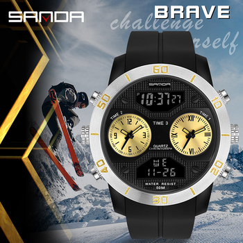 Fashion Watches Men Military Army Mens Watch Reloj Led Digital Sports Wristwatch Male Gift Analog Automatic Watches Male цена 2017