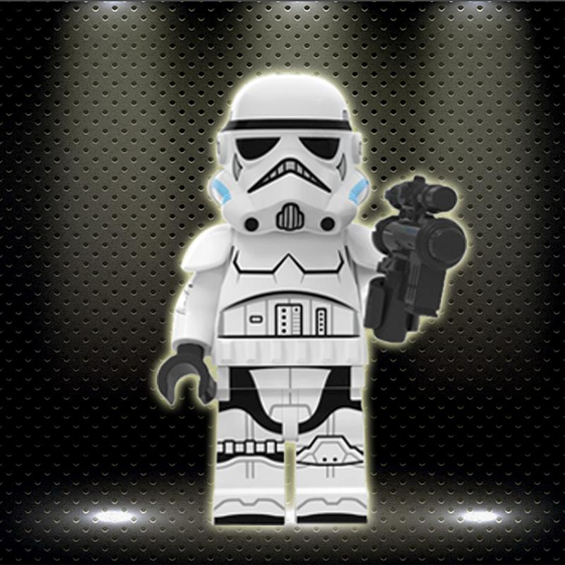 XP266 Ingly Gurined Imperial Storms Troopers Stars Wars Cloned Military Building Blocks Bricks Toys For Children
