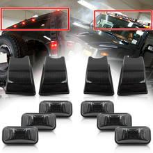 Hummer için H2 SUT 2003-2009 LED taksi tavan ışığı kiti koyu siyah Lens OEM değiştirin halojen Amber kırmızı lambalar 10 adet