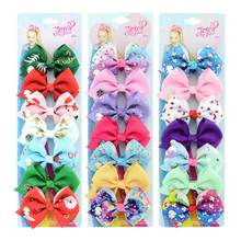 1 set hairClip Cute Solid Print Unicorn Christmas Bows With Clips For Girls Hair Accessories Hairpins Barrette 878(China)
