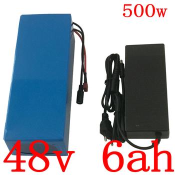 48V akumulator 48v 6Ah bateria litowa 500W 48V 6AH elektryczny akumulator rowerowy z 15A BMS i 54 6V 2A ładowarka darmowa wysyłka tanie i dobre opinie JSA KAKA 10ah 48 v 3 7V 2000mah 18650 255*70*70mm 250W 350W 500W blue 1 years 3 parallel 13 series 39 PCS