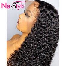 Parrucche per capelli umani anteriori in pizzo 13x4 per donne parrucche per capelli ricci parrucche lunghe per onde dacqua naturali capelli peruviani 150% capelli umani Remy