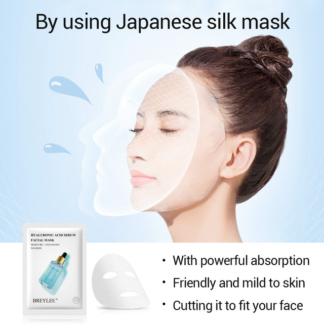 BREYLEE Face Mask Collagen Facial Sheet Mask Retinol Acne Treatment Serum Whitening Moisturizer Skin Care Anti Aging Vitamin C 1