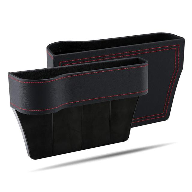 Car Seat Gap Storage Box Cup PU Leather Pocket Catcher Organizer Phone Bottle Cups Holder Multifunctional Car Accessories 2