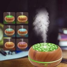 цена на Wood Grain Ultrasonic Aroma Essential Oil Diffuser with Bluetooth Wireless Music Speaker Timer Aromatherapy Air Humidifier