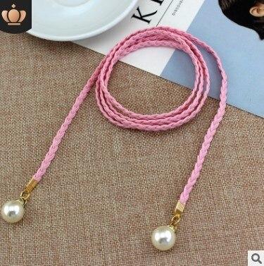 Style Sweet Belt Women Vintage Belt Style Candy Colors Hemp Rope Braid Belt Female Belt For Dress 8