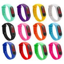 Reloj de mano Led rojo para mujer y hombre, pulsera electrónica de moda deportiva, Reloj deportivo para mujer, envío directo, 2020