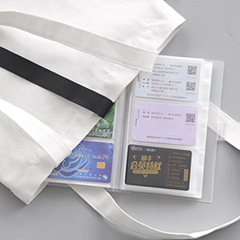 240 Slots Transparent PP Cover Business Card Book Large Capacity ID Holders Ticket Collection Clip 5