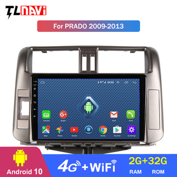 4G LTE 2G RAM Car Radio Multimedia Android 10 Video Player Navigation GPS For 1Toyota LAND CRUISER PRADO J150 2009-2013 image