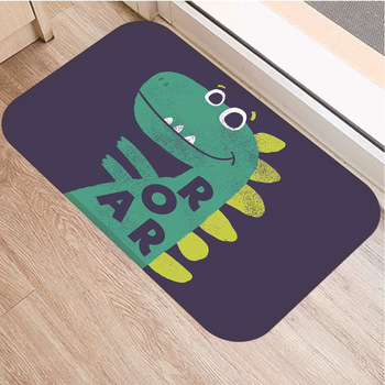 Dinosaur Print Floor Mat Carpet Soft Flannel Doormat Rugs for Bedroom Living Room Door Floor Hallway Mats