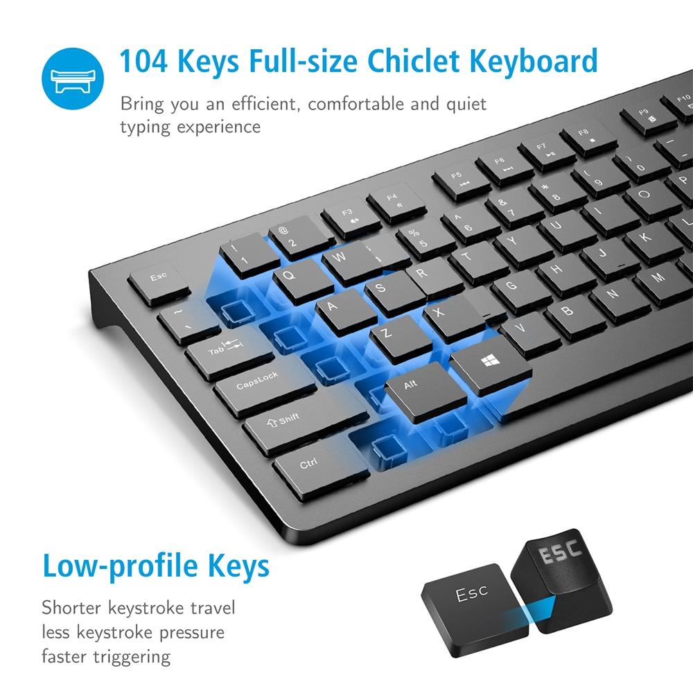 PC206 Wired Keyboard Portable Slim Membrane Chiclet Keyboard 104 Keycaps For Tablet Desktop Laptop PC Computer Keyboard (1)