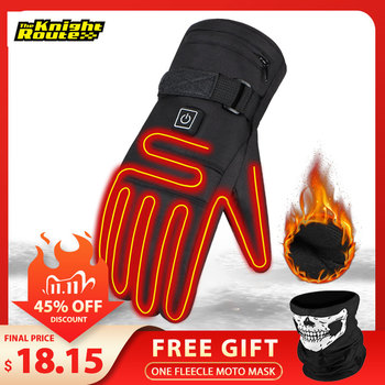 Winter Heated Biker Gloves  1