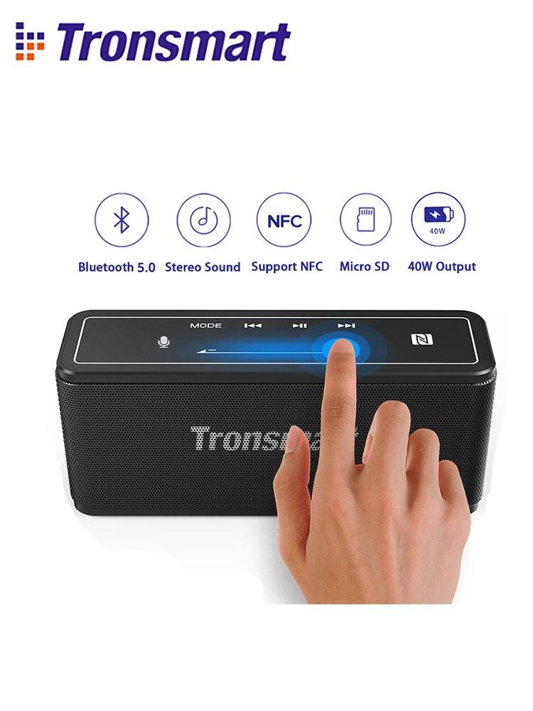 Orador portátil 40w do orador mega de tronsmart bluetooth 5.0 colums suporte soundbar do controle de