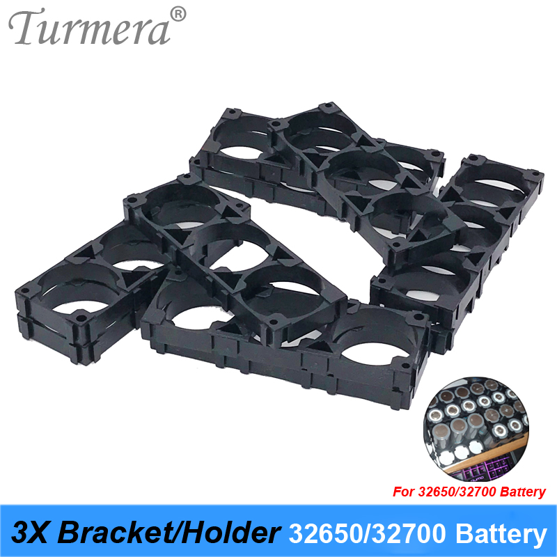 <font><b>Bracket</b></font> 3X <font><b>32650</b></font> 32700 Lifepo4 <font><b>Battery</b></font> <font><b>Bracket</b></font> <font><b>Holder</b></font> 3X Safety Anti Vibration Plastic <font><b>Bracket</b></font> For 12V 36V <font><b>battery</b></font> pack 8pieces image