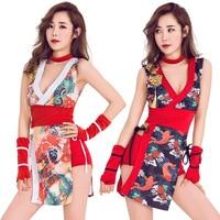 New Bar DS show dress Sexy retro cheongsam female singer DJ leading dance dress Halloween Japanese geisha cos PS8616L67