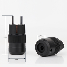 Hight Qualität Paar P 077E Rhodiniert EUR Schuko EU Power Plug C 077 IEC Stecker stecker