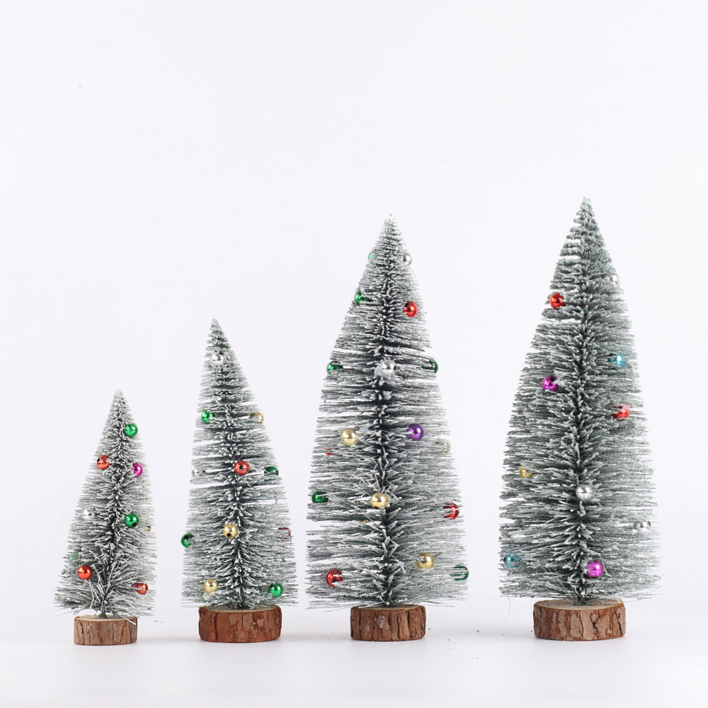 Manufacturers Direct Selling New Style Christmas Decorations Christmas Desktop Furnishings Cold Snow Glues Beads Mini Small Chri