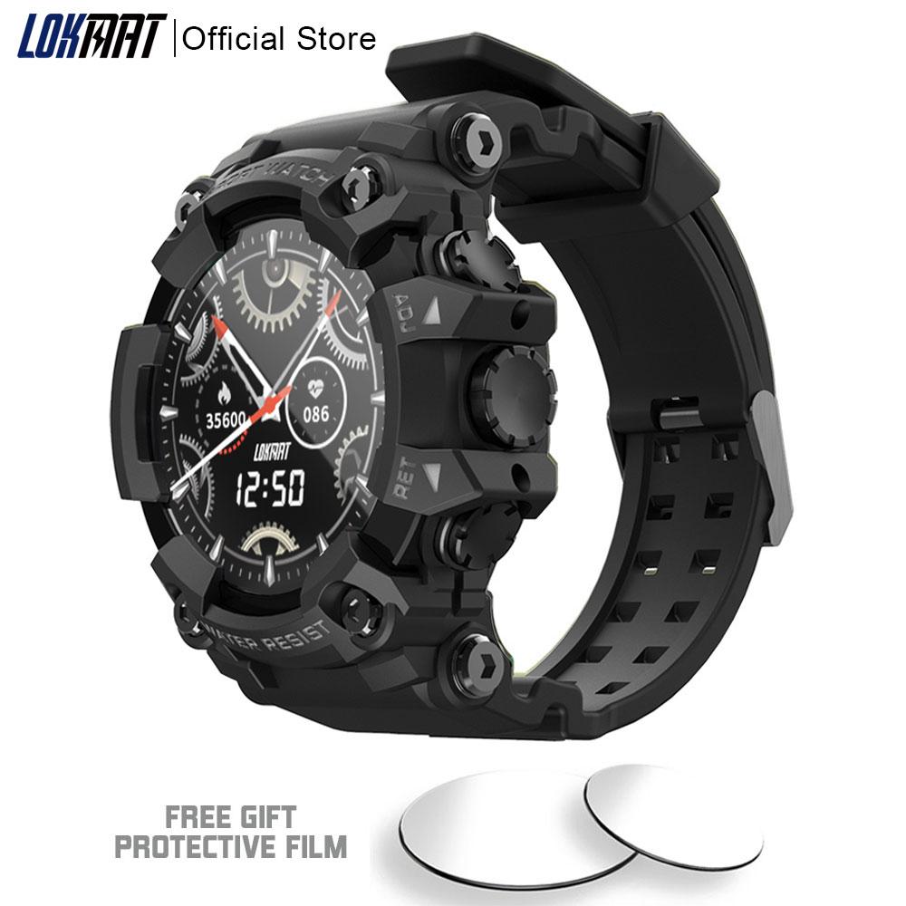 LOKMAT ATTACK Full Touch Screen Fitness Tracker Smart Watch Men Heart Rate Monitor Blood Pressure Smartwatch Innrech Market.com