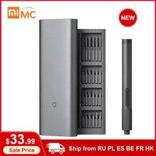 Xiaomi Mijia – Kit de tournevis électrique de précision, couple à 2 vitesses 400, 1 boîte en aluminium magnétique Rechargeable de Type C