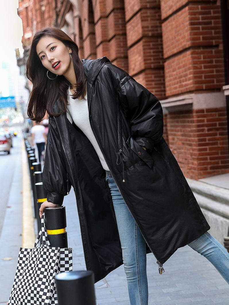 Real Leather Jacket Genuine Sheepskin Coat Women Clothes 2020 Hooded White Duck Down Coat Winter Coat Women B0532 YY2290