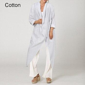 Plus Size Women Tops and Blouse 2021 Celmia Autumn Vintage Long Blouses Casual Cowl Neck Long Sleeve Asymmetric Party Blusas 5XL 16