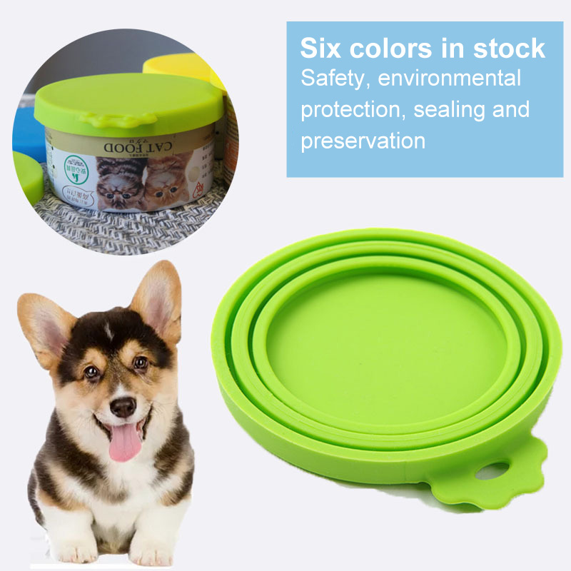 1Pcs 3 In 1 Reusable Food Storage Keep Fresh Tin Cover Cans Cap Pet Can Box Cover Silicone Can Lid Hot Kitchen Supplies Dropship 5