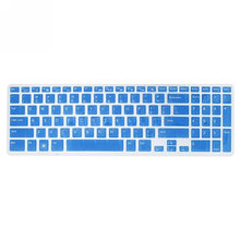 Keyboard Dust Cover Silicone Protector Transparen Skin Film for DELL New 15R N5110 M5110(Black)(Clear)(China)