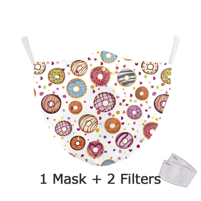 Mouth Mask Cute pm2.5 Anti Haze Mouth Mask Anime Caroon Printing Masks Bacteria proof Flu Masks Washable 4