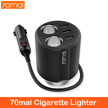 цена на 70mai car accessories Cigarette Lighter Socket Splitter 12V to 24V 3A Auto Power Adapter Car Charger for iPhone Phone