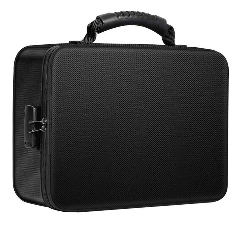 Organizer Bag Fireproof Document Bag with Lock Portable Filing Storage Box Holder for Document File Passport Certificate