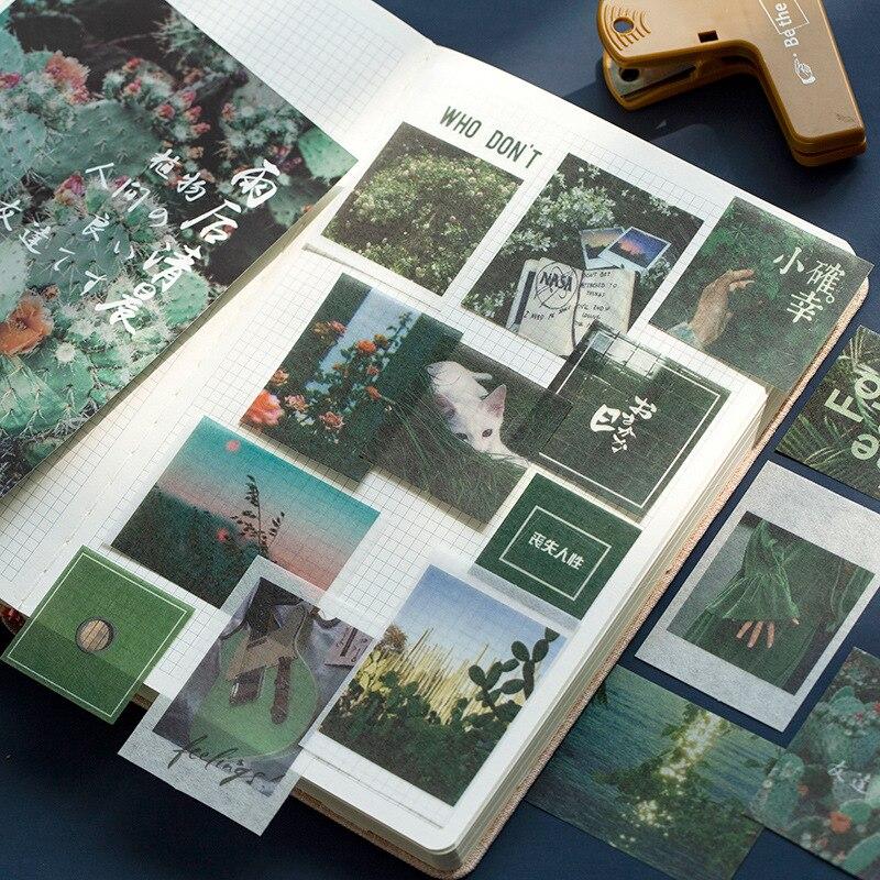100pcs/set Vintage Scenery Decorative Paper Sticker Decoration Diary Scrapbooking Label Sticker Stationery