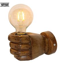 Fist Wall Lamp Vintage Creative Shape Light Sconces Decor Lighting Fixture Bedroom Corridor Decorate