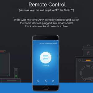 Image 5 - Новинка, умная розетка Xiaomi Mijia с Bluetooth шлюзом, двойной USB, умная WIFI розетка, адаптер питания, умное домашнее устройство