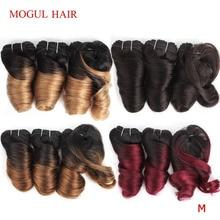MOGUL HAIR Ombre Honey Blonde Romance Curl Short Style Ombre Remy Cheap Human Hair Natural Color 155g/set Brazilian Loose Wave